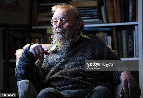 Author and writer Farley Mowat in his home in Port Hope Ontario on May 7 2012 The renowned Canadian author and environmentalist died yesterday May 7...