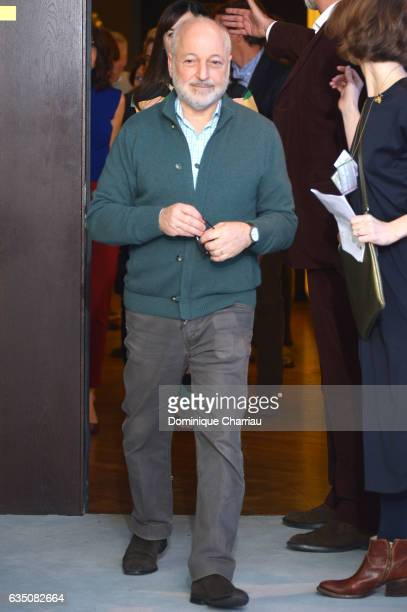 Author Andre Aciman attends the 'Call Me by Your Name' photo call during the 67th Berlinale International Film Festival Berlin at Grand Hyatt Hotel...
