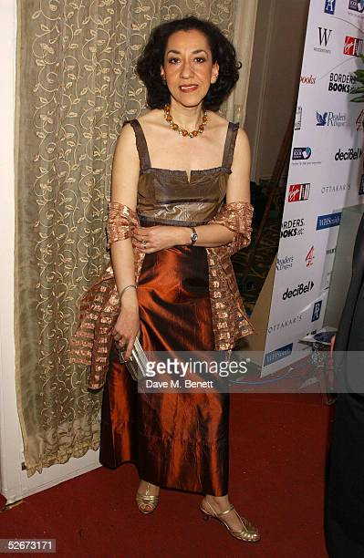 Author Andrea Levy attends the reception party for the annual British Book Awards at Grosvenor House Park Lane on April 20 2005 in London England The...