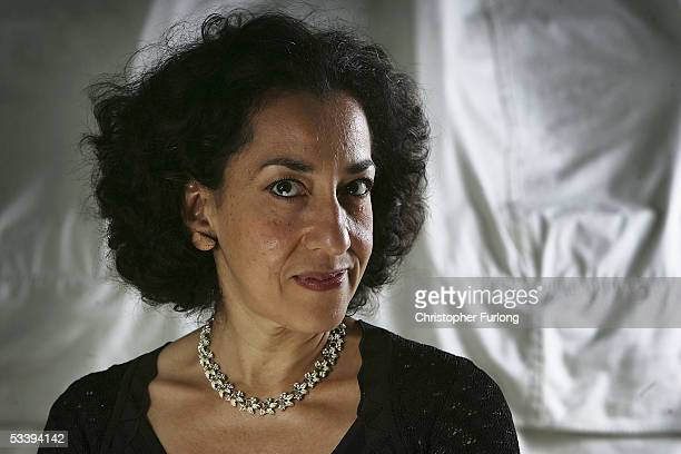 Author Andrea Levy poses for a portrait at Edinburgh Literary Festival held at Charlotte Square on August 16, 2005 in Glasgow, Scotland.