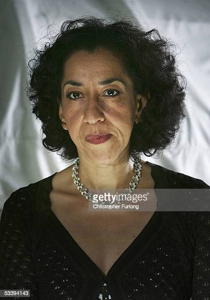 Author Andrea Levy poses for a portrait at Edinburgh Literary Festival held at Charlotte Square on August 16 2005 in Glasgow Scotland