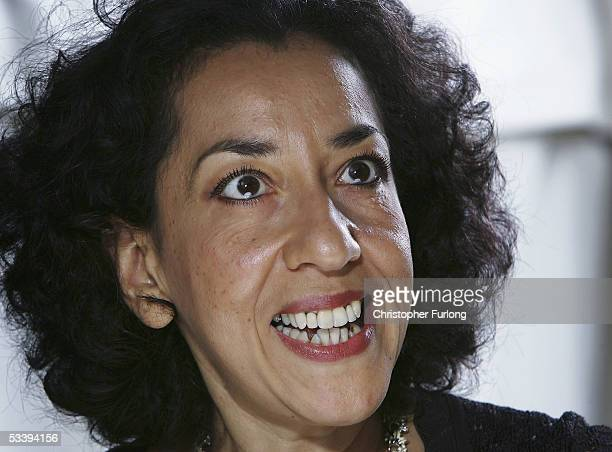 Author Andrea Levy poses for a portrait at Edinburgh Literary Festival held at Charlotte Square on June 19 2005 in Glasgow Scotland