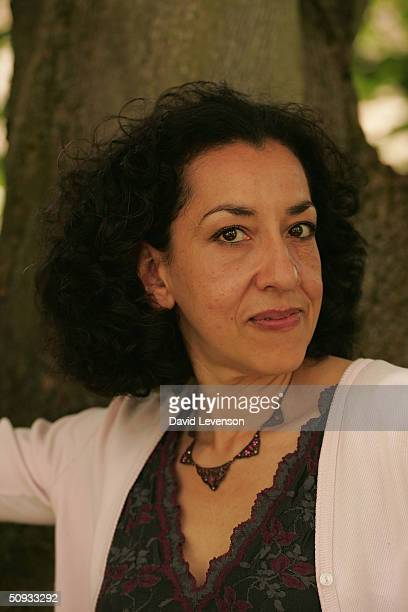 Author Andrea Levy who has been nominated for Orange prize for fiction award poses for a portrait at The Guardian Hay Festival 2004 held on June 6...