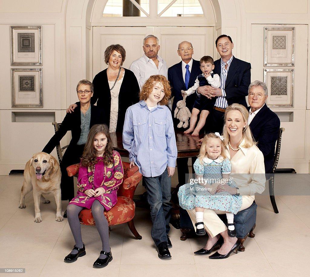 Andrew Solomon and family, Newsweek, February 7, 2011 : News Photo