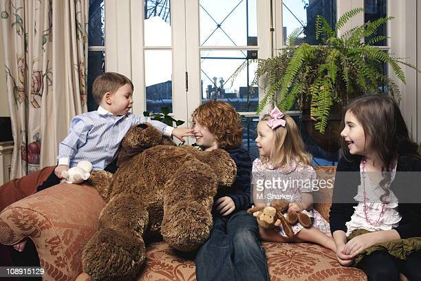 Author Andrew Solomon's extended family George Charles Habich Solomon Oliver Scher Carolyn Blaine Smith Solomon and Lucy Scher pose at a portrait...