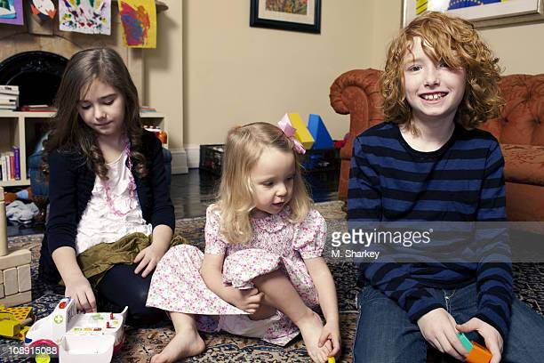 Author Andrew Solomon's extended family Lucy Scher Carolyn Blaine Smith Solomon and Oliver Scher pose at a portrait session for Newsweek on January...