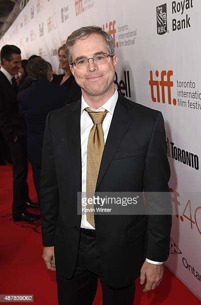 Author Andy Weir attends 'The Martian' premiere during the 2015 Toronto International Film Festival at Roy Thomson Hall on September 11 2015 in...