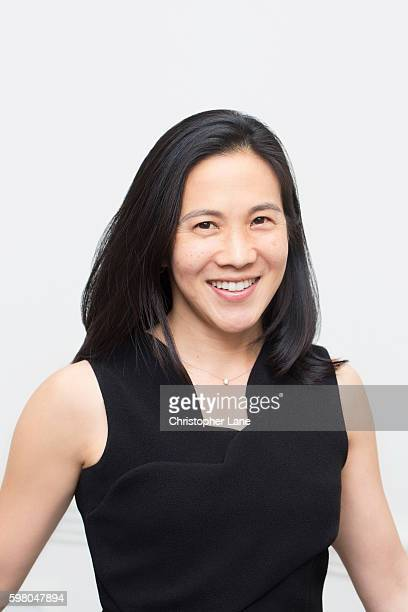 Author Angela Duckworth is photographed for The Guardian Newspaper on April 26 2016 in New York City