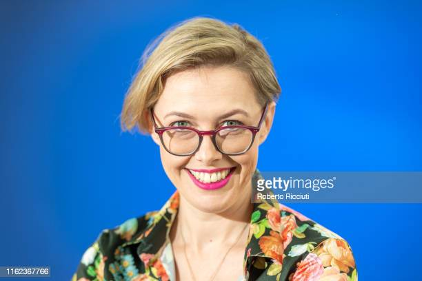 Author Angela Meyer attends a photocall during the Edinburgh International Book Festival 2019 on August 18, 2019 in Edinburgh, Scotland.