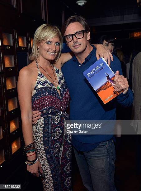 Author Angie Banicki and Donovan Leitch attend the launch party for Angie Banicki's book '30 Before 30 Traveling Under The Influence' at the Spare...