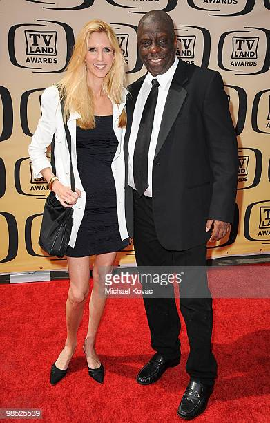 Author Ann Coulter and Actor Jimmie JJ Walker attend the 8th Annual TV Land Awards held at Sony Studios on April 17 2010 in Culver City California