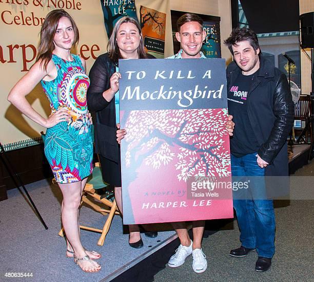 Author Anna Carey, Author Kristen Kittscher, Author Aaron Hartzler and Author and Author/Producer Josh Sabarra pose for portrait at Celebrate Harper...