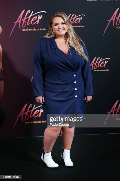 Author Anna Todd attends 'After Aqui Empieza Todo' photocall at the VP Hotel on March 26 2019 in Madrid Spain