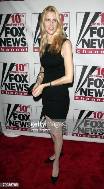Author Anne Coulter attends the Fox News Channel 10th Anniversary celebration on October 4 2006 in New York City