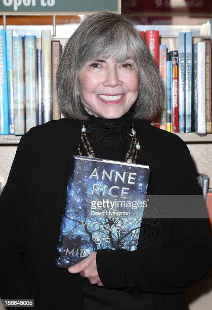 Author Anne Rice attends a signing for her book 'The Wolves of Midwinter' at Barnes Noble bookstore at The Grove on November 2 2013 in Los Angeles...