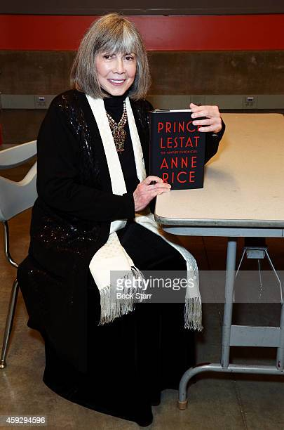 Author Anne Rice attends LiveTalks Los Angeles in conversation with Christopher Rice discussing 'Prince Lestat The Vampire Chronicles' at Moss...