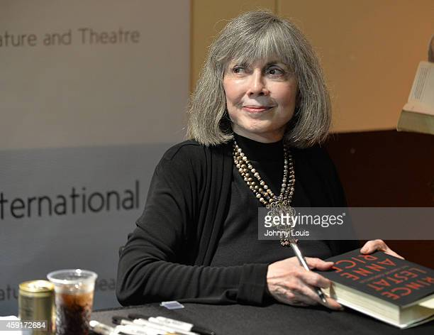 Author Anne Rice discusses and signs her book Prince Lestat The Vampire Chronicles at Miami Dade College on November 17 2014 in Miami Florida