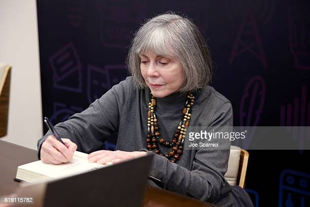 Author Anne Rice signs books during Entertainment Weekly's PopFest at The Reef on October 29 2016 in Los Angeles California