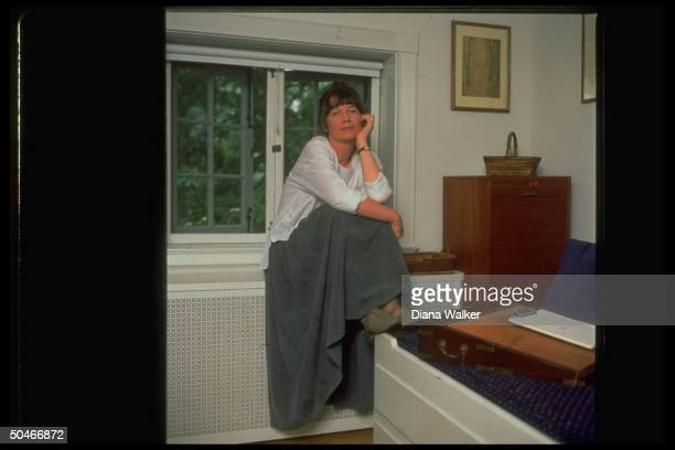 Author Anne Tyler at home