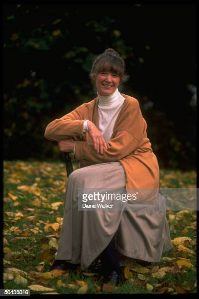 Author Anne Tyler in sylvan setting prob at home