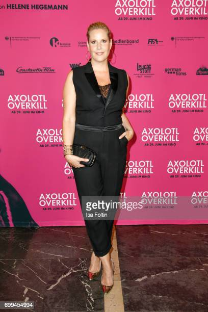 Author Annika Decker attends the 'Axolotl Overkill' Berlin Premiere at Volksbuehne RosaLuxemburgPlatz on June 21 2017 in Berlin Germany