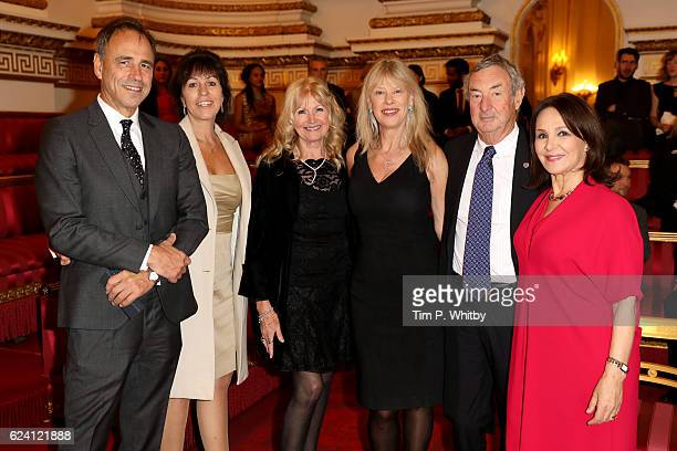 Author Anthony Horowitz his wife Jill Green Debbie Moore Annette Mason Pink Floyd musician Nick Mason and choreographer Arlene Phillips attend as the...