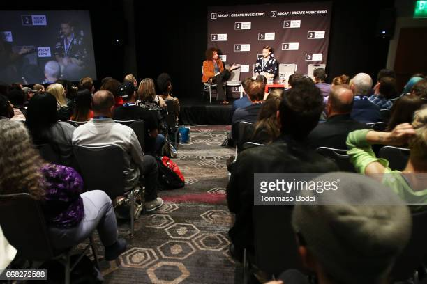 Author Ari Herstand and Producer Entrepreneur Advisor Consultant Engineer Vocalist Peter Hollens speak onstage at 'Redefining Success How to Make it...