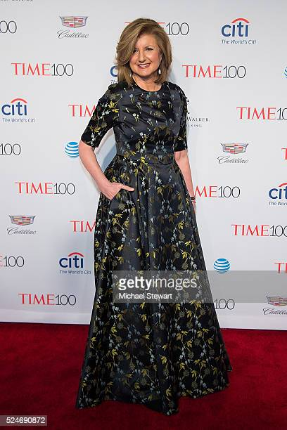 Author Arianna Huffington attends the 2016 Time 100 Gala at Frederick P Rose Hall Jazz at Lincoln Center on April 26 2016 in New York City