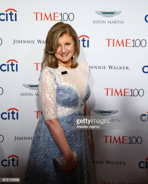 Author Arianna Huffington attends the 2017 TIME 100 Gala at Jazz at Lincoln Center in New York United States on April 25 2017