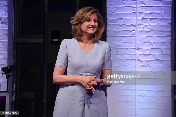 Author Arianna Huffington attends the Klick Health MUSE NYC on March 31 2016 in New York City