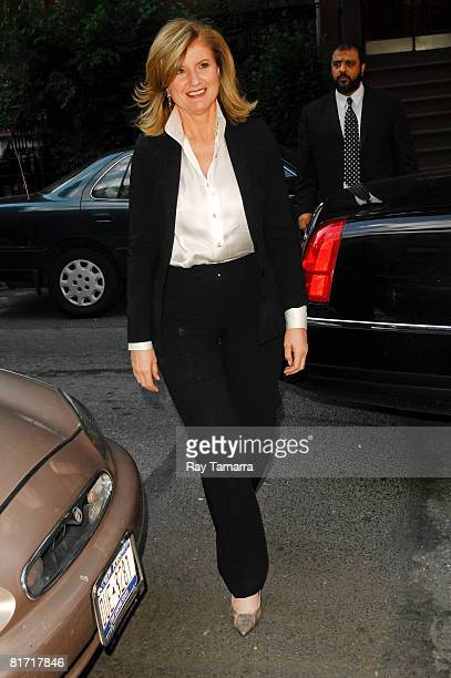 Author Arianna Huffington attends the Reception for Gonzo The Life And Work Of Dr Hunter S Thompson at Ye Waverly Inn on June 25 2008 in New York City