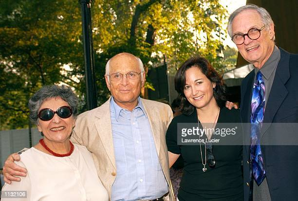 Author Arlene Alda producer Norman Lear philanthropist Maggie Lear and actor Alan Alda arrive at the 2002 Joseph Papp Public Theater/New York...