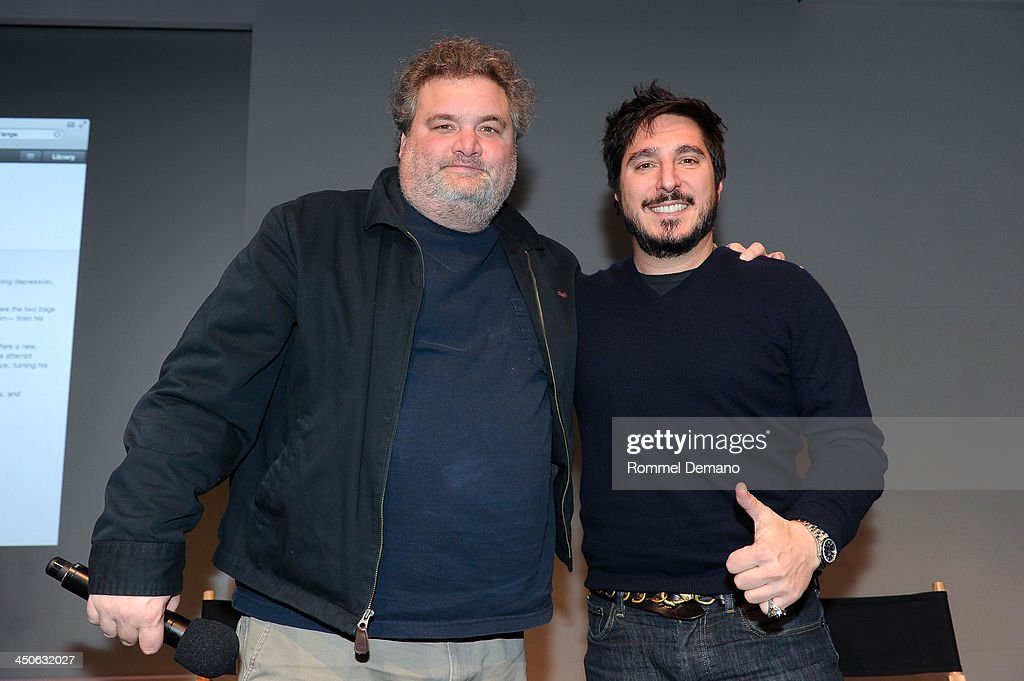Author Artie Lange and Anthony Bozza attend Meet the Author; Artie Lange, 'Crash and Burn' at the Apple Store Soho on November 19, 2013 in New York City.