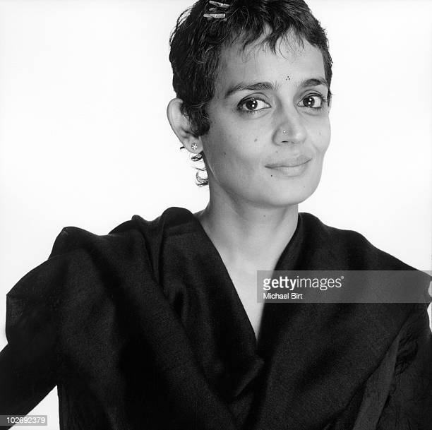 Author Arundhati Roy poses for a portrait shoot in London UK