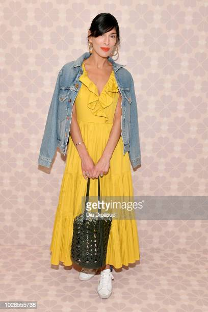 Author Athena Calderone attends the Kate Spade New York Fashion Show during New York Fashion Week at New York Public Library on September 7 2018 in...