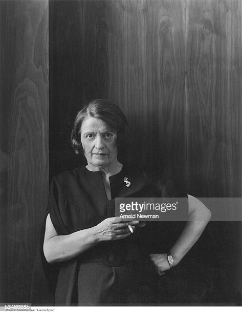 Author Ayn Rand poses for portrait September 15 1964 in New York City Rand is best known for her novels 'Atlas Shrugged' and 'The Fountainhead'