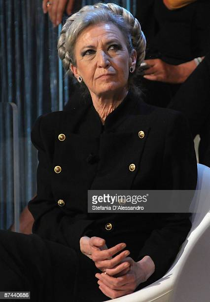 Author Barbara Alberti attends Academy Italian TV Show on May 16 2009 in Milan Italy