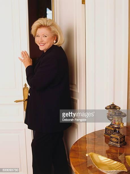 Author Barbara Taylor Bradford in Black Suit