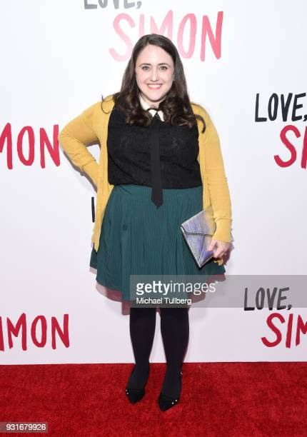 "Author Becky Albertalli attends a special screening of 20th Century Fox's ""Love, Simon"" at Westfield Century City on March 13, 2018 in Los Angeles,..."