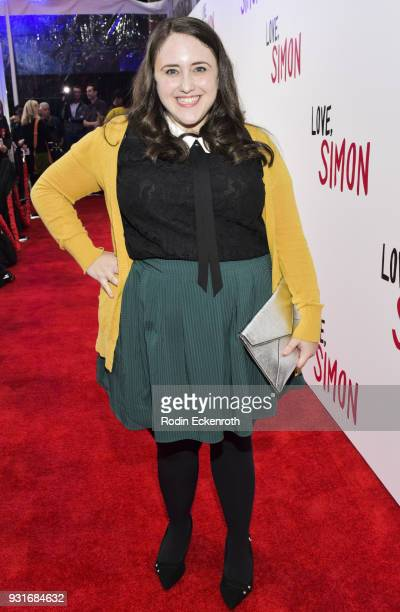 Author Becky Albertalli attends a special screening of 20th Century Fox's 'Love Simon' at Westfield Century City on March 13 2018 in Los Angeles...