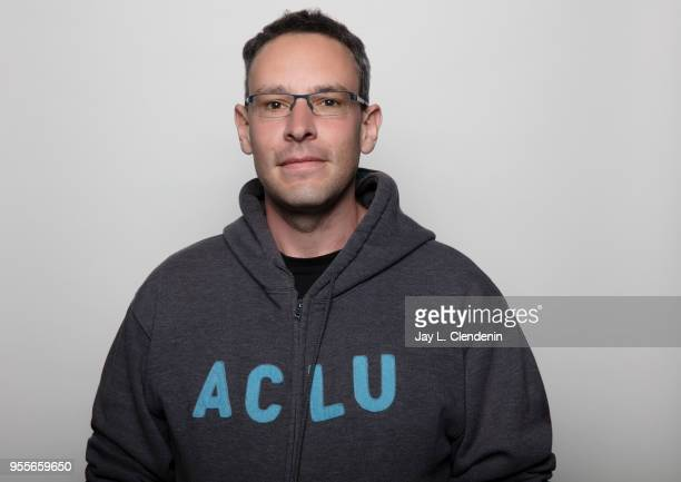 Author Ben Loory is photographed for Los Angeles Times on April 21 2018 in the LA Times Studio at the Los Angeles Times Festival of Books at the...
