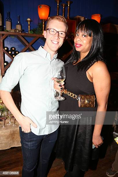 Author Ben Mims and Africa McClain attend Ben Mims Sweet Southern Cookbook Launch at VinoVersity on October 29 2014 in New York City