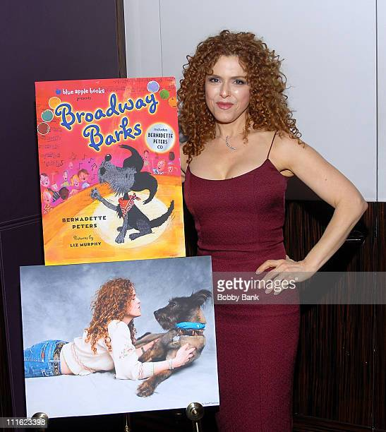 Author Bernadette Peters at her book release party Broadway Barks at Le Cirque on May 12 2008 in New York City