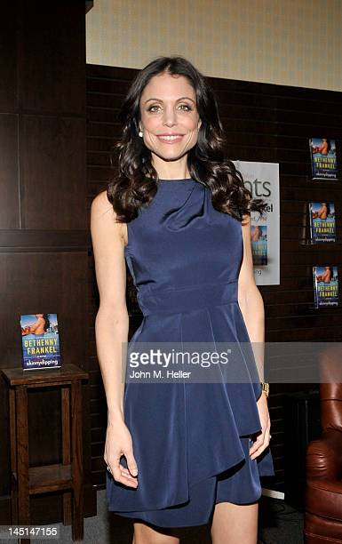 Author Bethenny Frankel arrives at Barnes Noble bookstore at The Grove to sign copies of her new book Skinnydipping on May 23 2012 in Los Angeles...