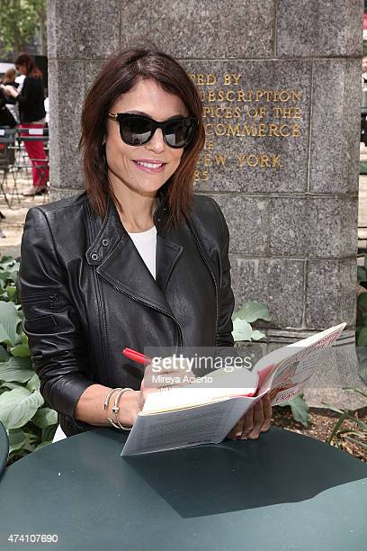 Author Bethenny Frankel in conversation with Carole Radziwill at The Bryant Park Reading Room on May 20 2015 in New York City