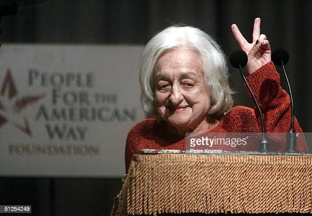 Author Betty Friedan attends a reading of the US Constitution at Cooper Union for the People For the American Way Foundation September 1 2004 in New...