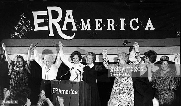 Author Betty Friedan secretary to Lyndon Johnson Elizabeth Carpenter First Lady Rosalynn Carter former First Lady Betty Ford Kate Smith Mrs William...