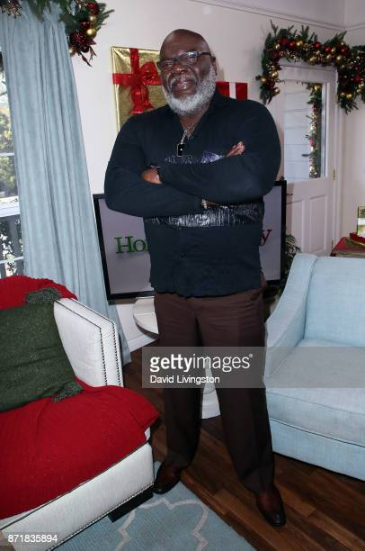 Author Bishop T D Jakes visits Hallmark's 'Home Family' at Universal Studios Hollywood on November 8 2017 in Universal City California