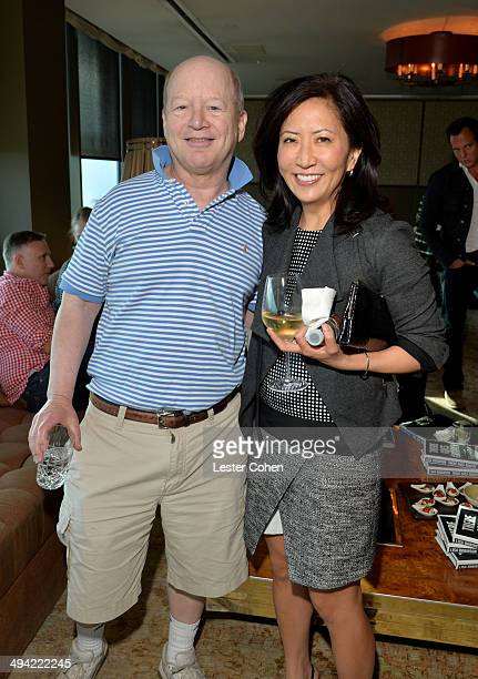 Author Bob Lefsetz and CoPresident/Chief Creative Officer of the Entertainment Group of Guggenheim Media Janice Min attend the Shelli And Irving...