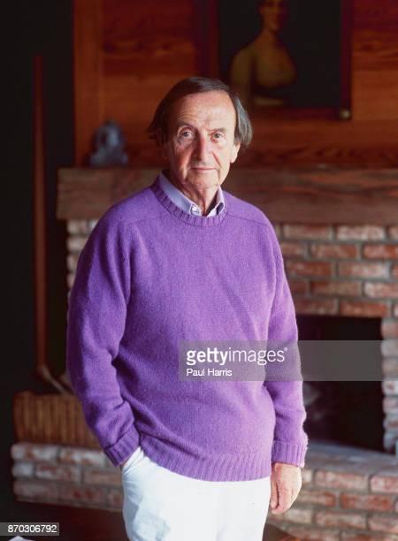 Author Brian Moore at his Malibu home January 12 1987 Malibu California